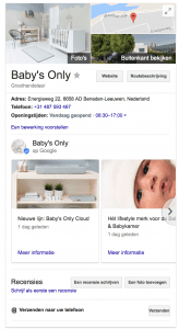 mijn bedrijf bedrijfsvermelding google