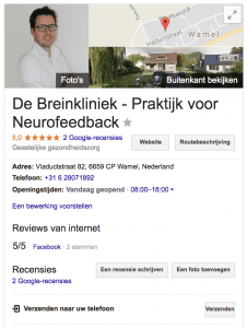 google mijn bedrijf oud