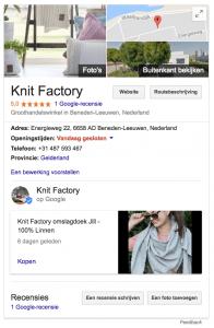 bedrijfsvermelding google